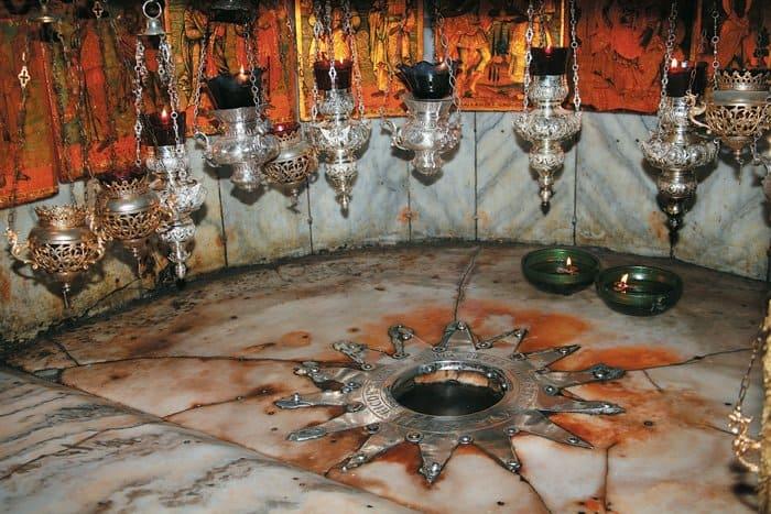 Место Рождества  Иисуса Христа  в Вифлееме