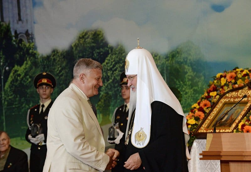 Патриарх Кирилл и Александр Сегень