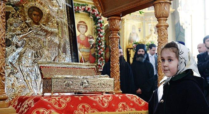 Мощи святого Георгия Победоносца встречают на Ставрополье