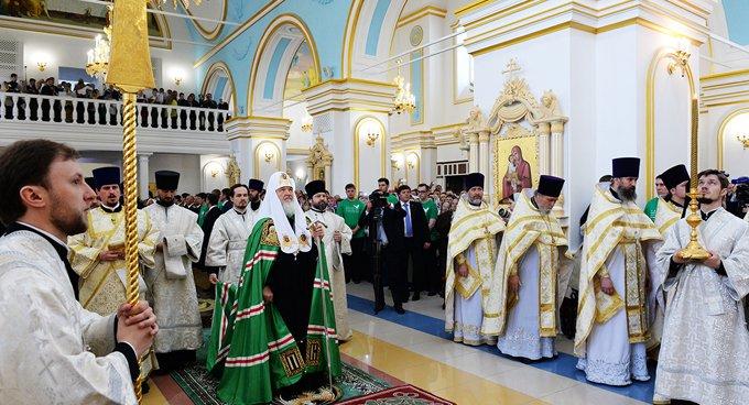 Патриарх Кирилл освятил в Ульяновске кафедральный собор