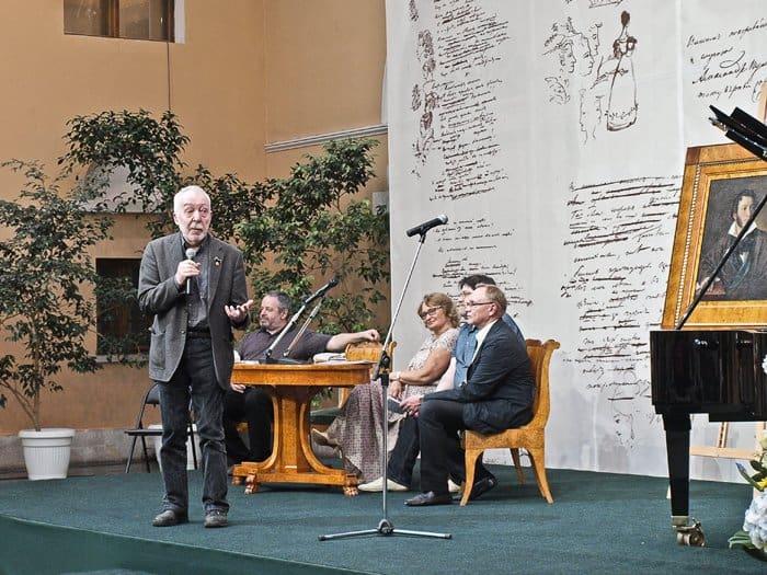 Выступление писателя Андрея Битова, возглавляющего Совет Новой Пушкинской премии