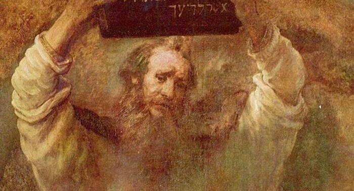 Моисей со скрижалями. Рембрандт Харменс ван Рейн, 1659 г.