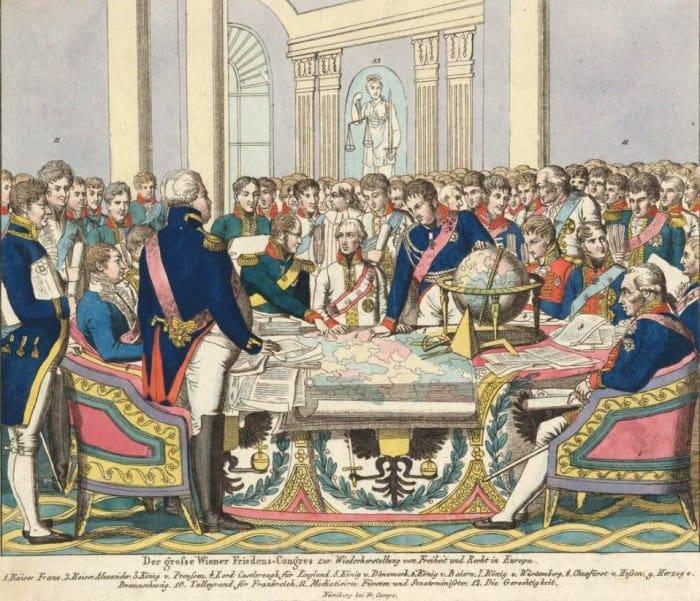 Венский конгресс. Литография. 1814