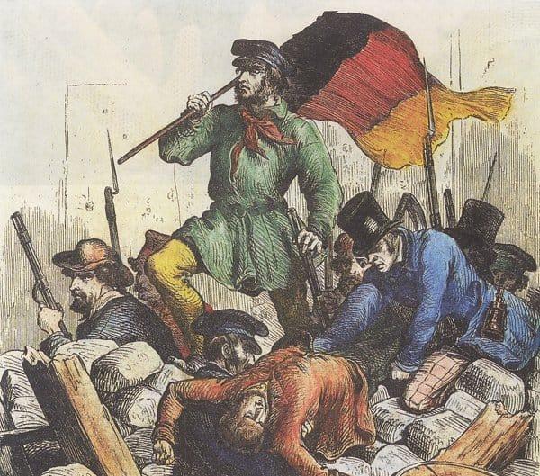 Революция в Венгрии. Гравюра. 1848