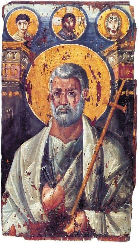 Апостол Петр, Икона VI в. Дерево, энкаустика. Монастырь св. Екатерины на Синае