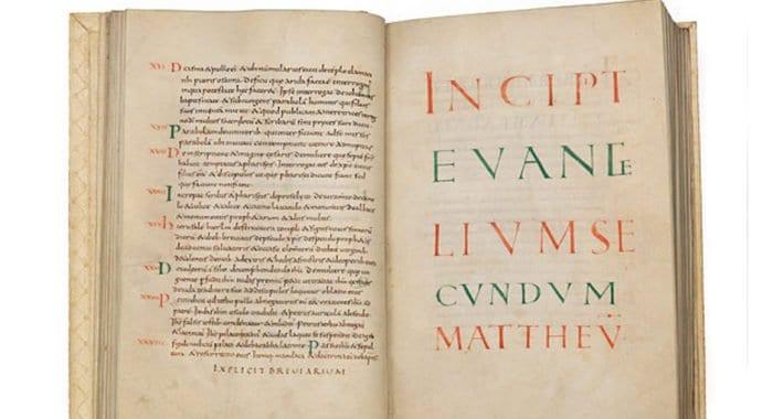 Считавшееся утерянным древнее Евангелие отыскали через Интернет