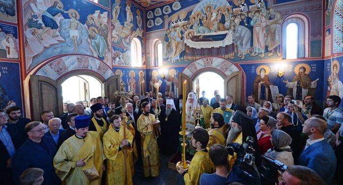 Патриарх Кирилл освятил храм Александра Невского на Валааме