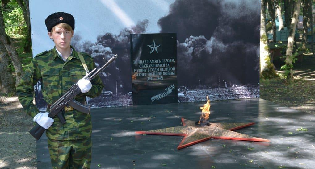 Терские казаки более 10 часов несли караул у пятигорского Вечного огня