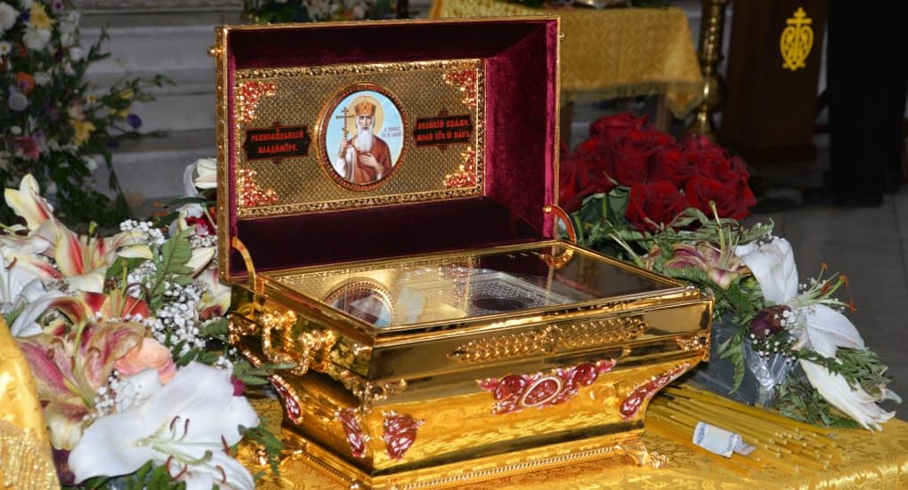 На торжества Крещения Руси в Белгород принесут мощи князя Владимира