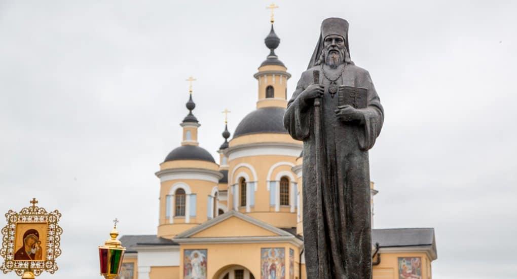 В Рязанской области открыли памятник святителю Феофану Затворнику