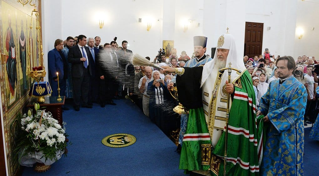 Патриарх Кирилл освятил два храма в Иваново