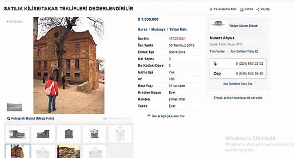 В Турции выставили на продажу уникальный храм XIII века