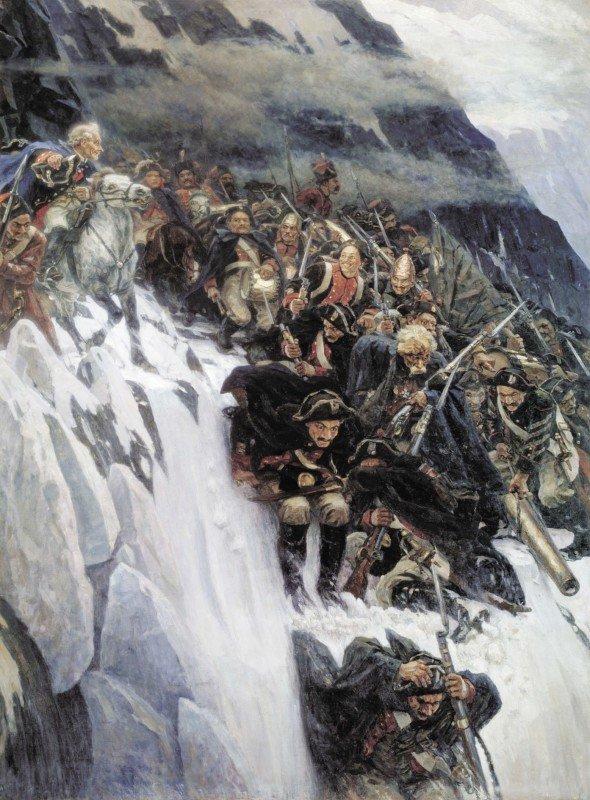 Василий Суриков. «Переход Суворова через Альпы»