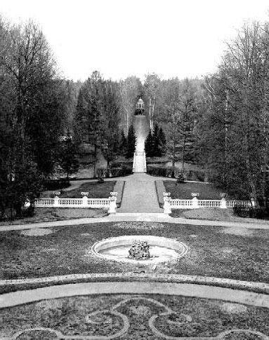 Вид на пейзажный парк с балкона усадебного дома в Рай-Семеновском_ок 1900