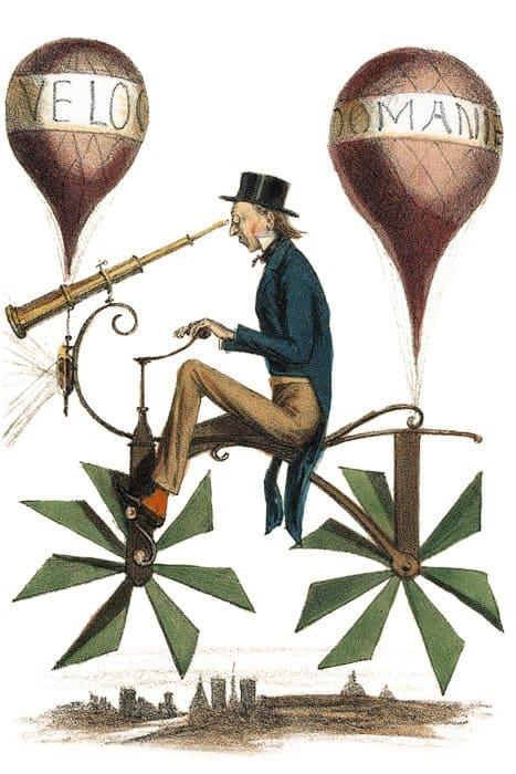 Путешествие налуну.  Литография. 1865–1870