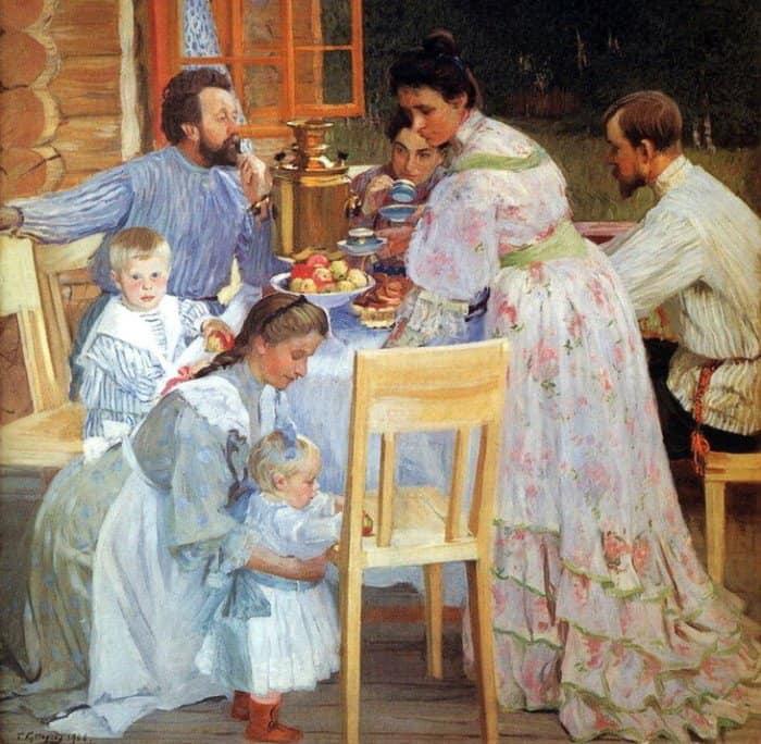 Борис Кустодиев «На террасе»