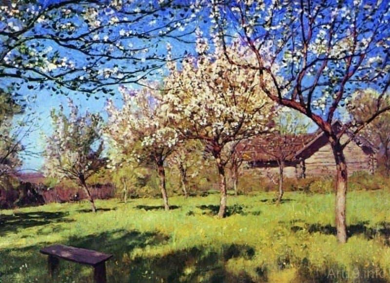 Левитан Исаак Ильич «Цветущие яблони»