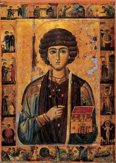 Святой Пантелеимон. Иконография