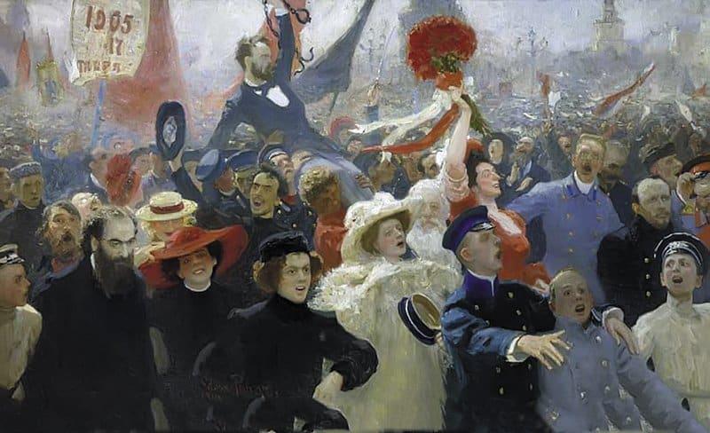 18 октября 1905 года. И. Репин. 1907–1911