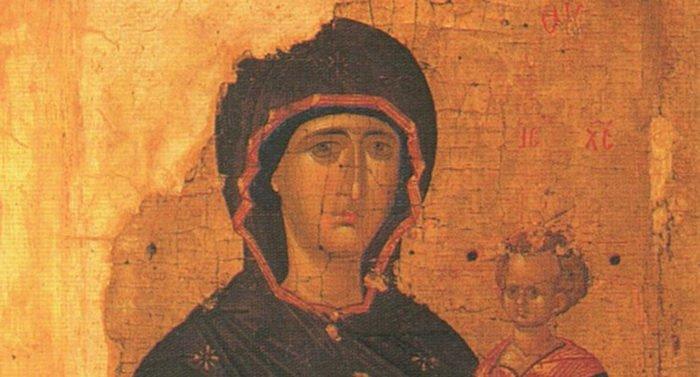 Икона Божией Матери «Одигитрия». Первая четверь XV века Византия.