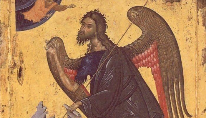 Почему Иоанна Крестителя  изображают скрыльями?