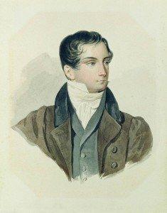 26. 1. Веневитинов Д. В. Акварель П. Ф. Соколова. 1827