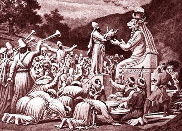 Принесение жертвы Молоху