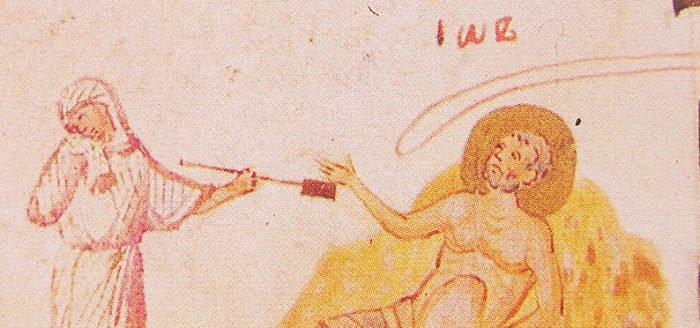 Иов миниатюра из Киевской Псалтири