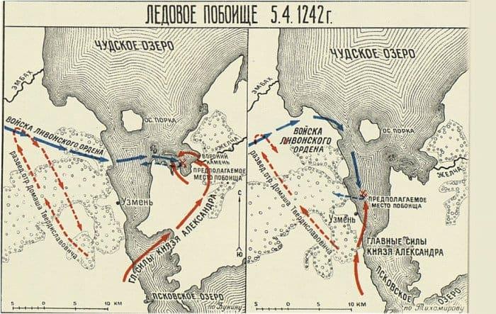Карта Ледового побоища