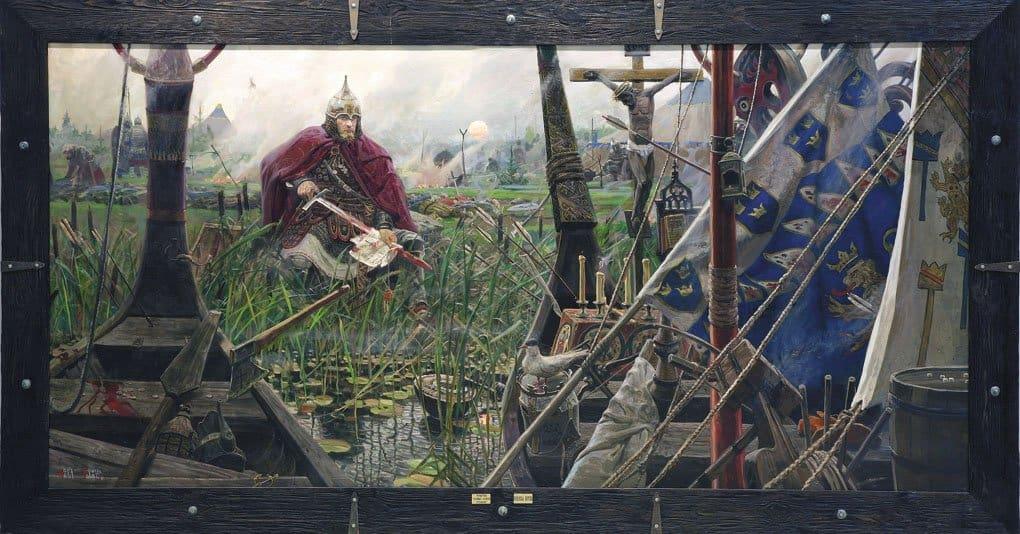Невская битва. Павел Рыженко. Часть триптиха «Солнце земли Русской». 2008–2009