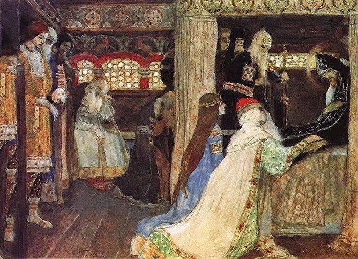 Кончина благоверного князя Александра Невского. М. В. Нестеров. 1899–1900