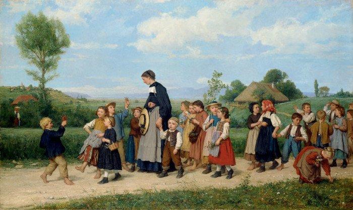 Albert Der Anker. Schulspaziergang