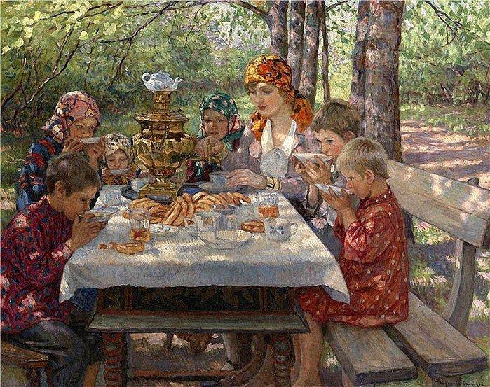 Богданов-Бельский Н.П. Чаепитие у учительницы