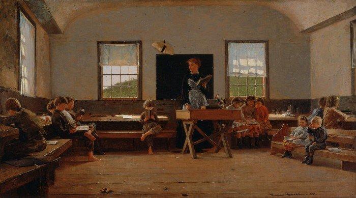 Хомер Уинслоу, Сельская школа, 1871.