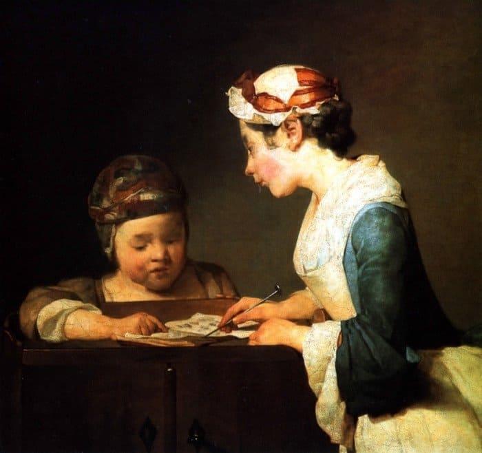 Картина Жан Батист Симеон Шарден, Молодая учительница