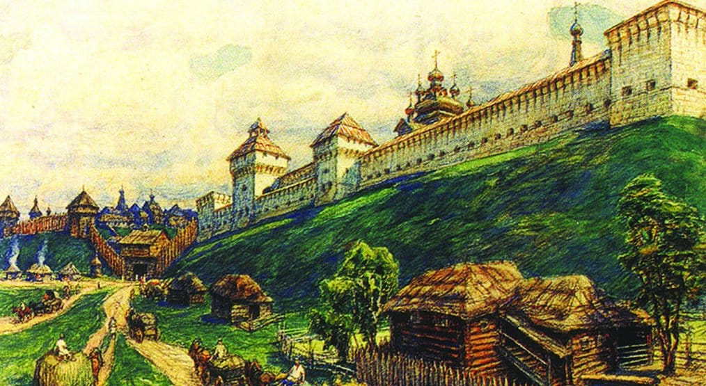 Древний Серпухов. Аполлинарий Васнецов. 1920