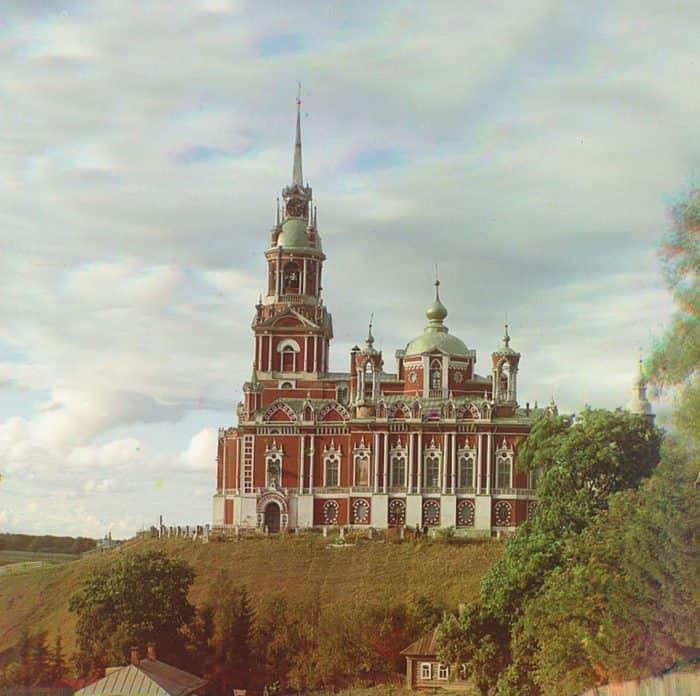 Можайский Николаевский собор. Фото С. М. Прокудина-Горского, 1911