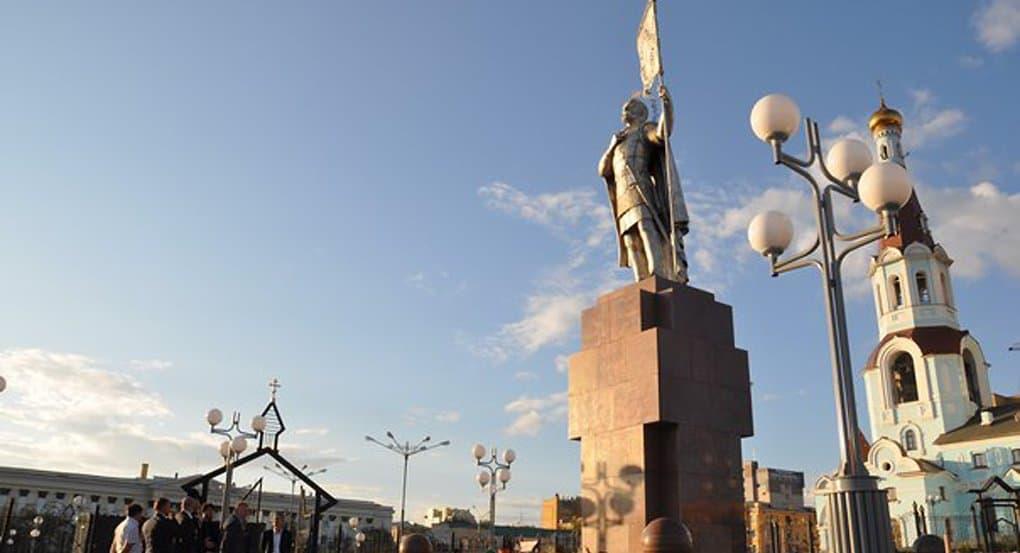 Святому Александру Невскому установили памятник в Чите