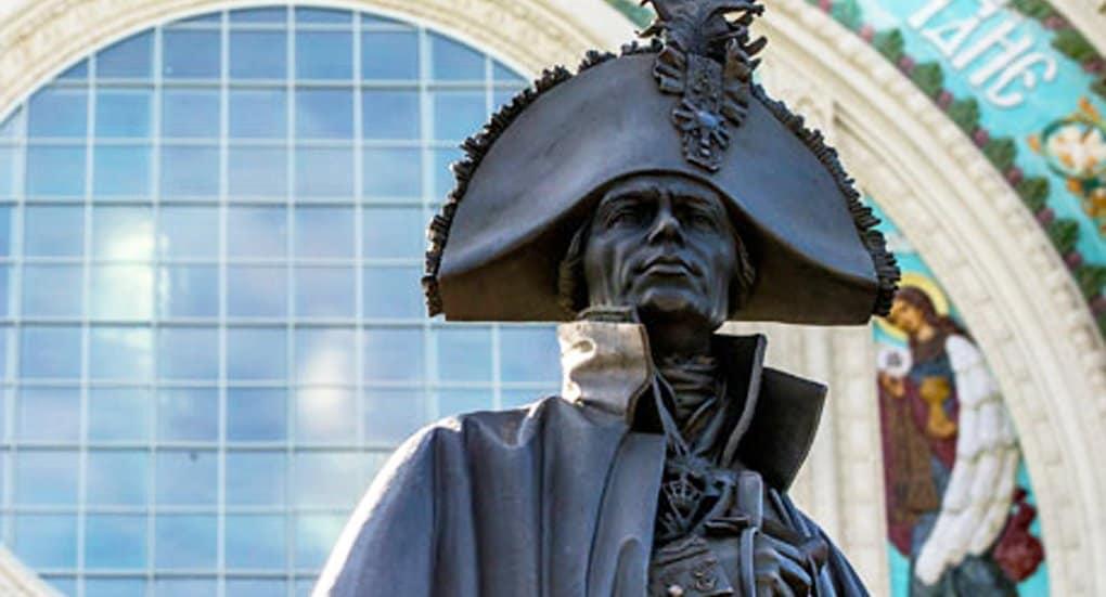 В Кронштадте открыли памятник праведному Федору Ушакову