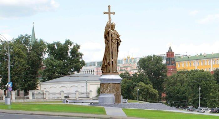 Памятник князю Владимиру в Москве планируют установить в апреле