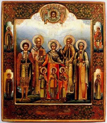 Вера, Надежда, Любвь и матерь их Софии с предстоящими. Не позднее 1880 года