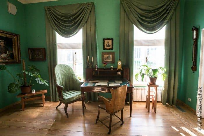 Комнаты в Усадебном доме, посвященные работе и жизни Аксакова и его семьи