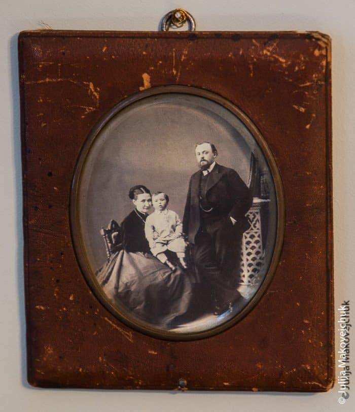 Елизавета Григорьевна, Савва Иванович Мамонтовы с сыном Андреем