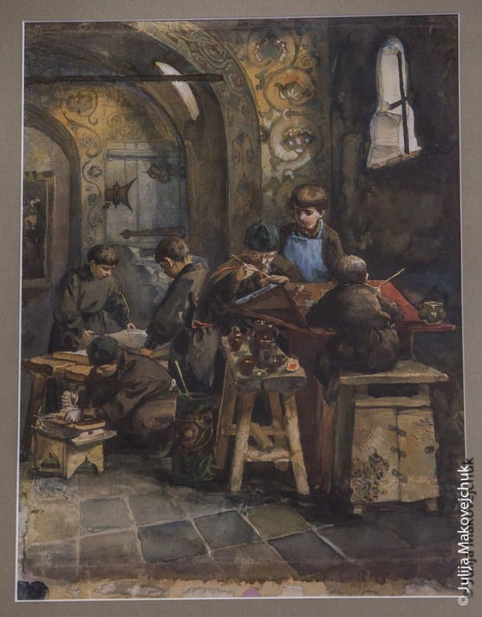 «Мастерская», картина В. Д. Поленова