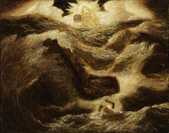 Альберт Пинкгем Райдер. Пророк Иона. Ок. 1890-х гг.