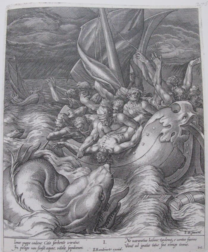Dominicus Custos. Jonah cast into the sea. 17th century (1)