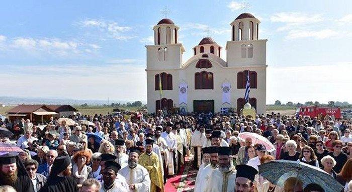 В Греции освятили первый храм преподобного Порфирия Кавсокаливита