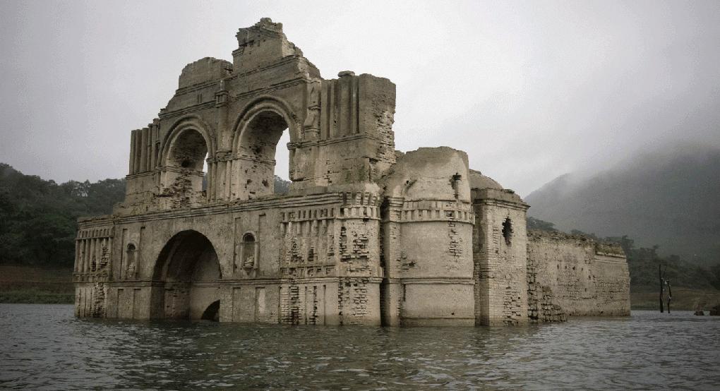 Из обмельчавшей мексиканской реки появился храм XVI века