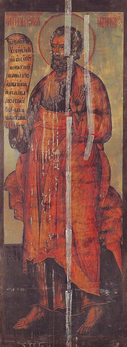 Иона пророк. Россия. Москва. XVII в. Московский Кремль. Вознесенский монастырь. Иконостас