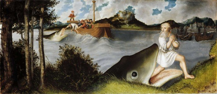 Лукас Кранах Старший. Иона и кит